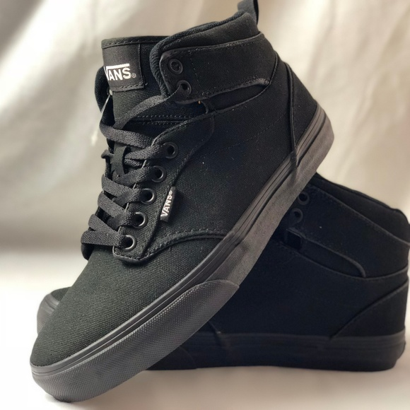 ac93aa4308d Vans Atwood Hi Canvas Black Black High Top Shoes.